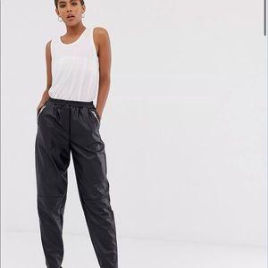 ASOS DESIGN faux leather pants
